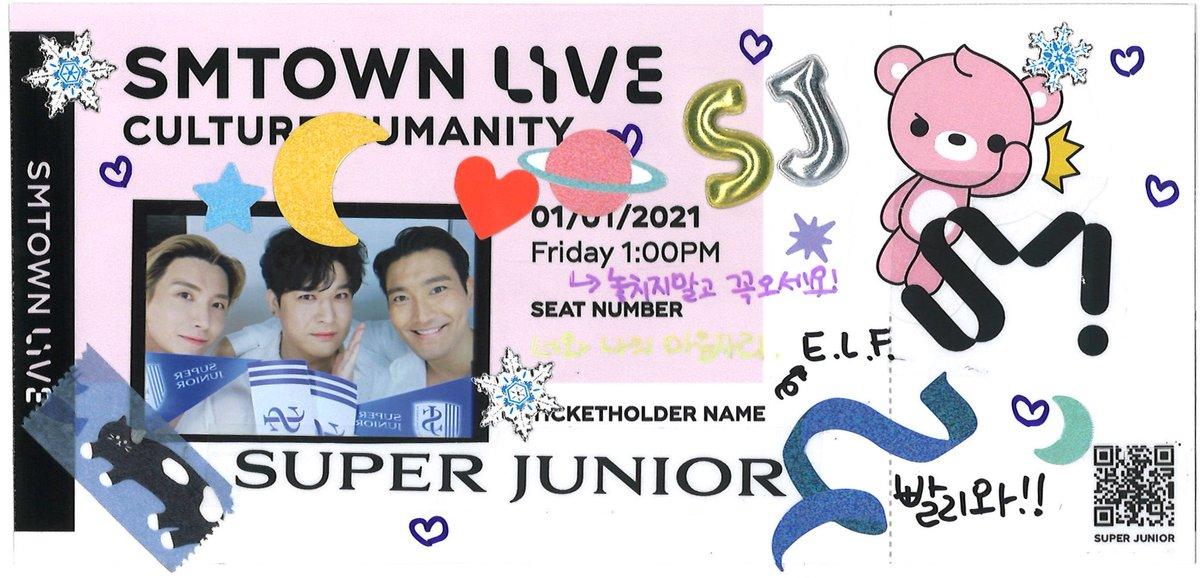 [情報] 201228 SMTOWN LIVE Ticket from SJ