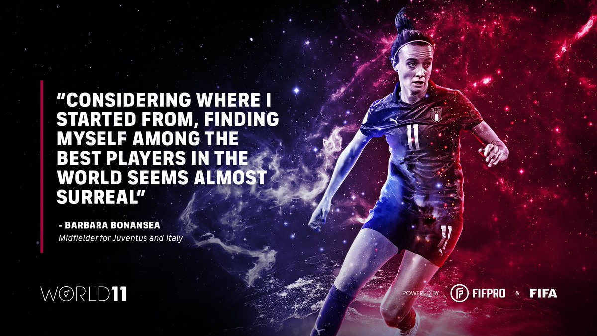 """""""Considering where I started from, finding myself among the best players in the world seems almost surreal"""" – @barbarabonansea on winning her first World 11 award 🏆👏  @assocalciatori @JuventusFCWomen   Find out what it means to win a #World11 award ⬇️"""