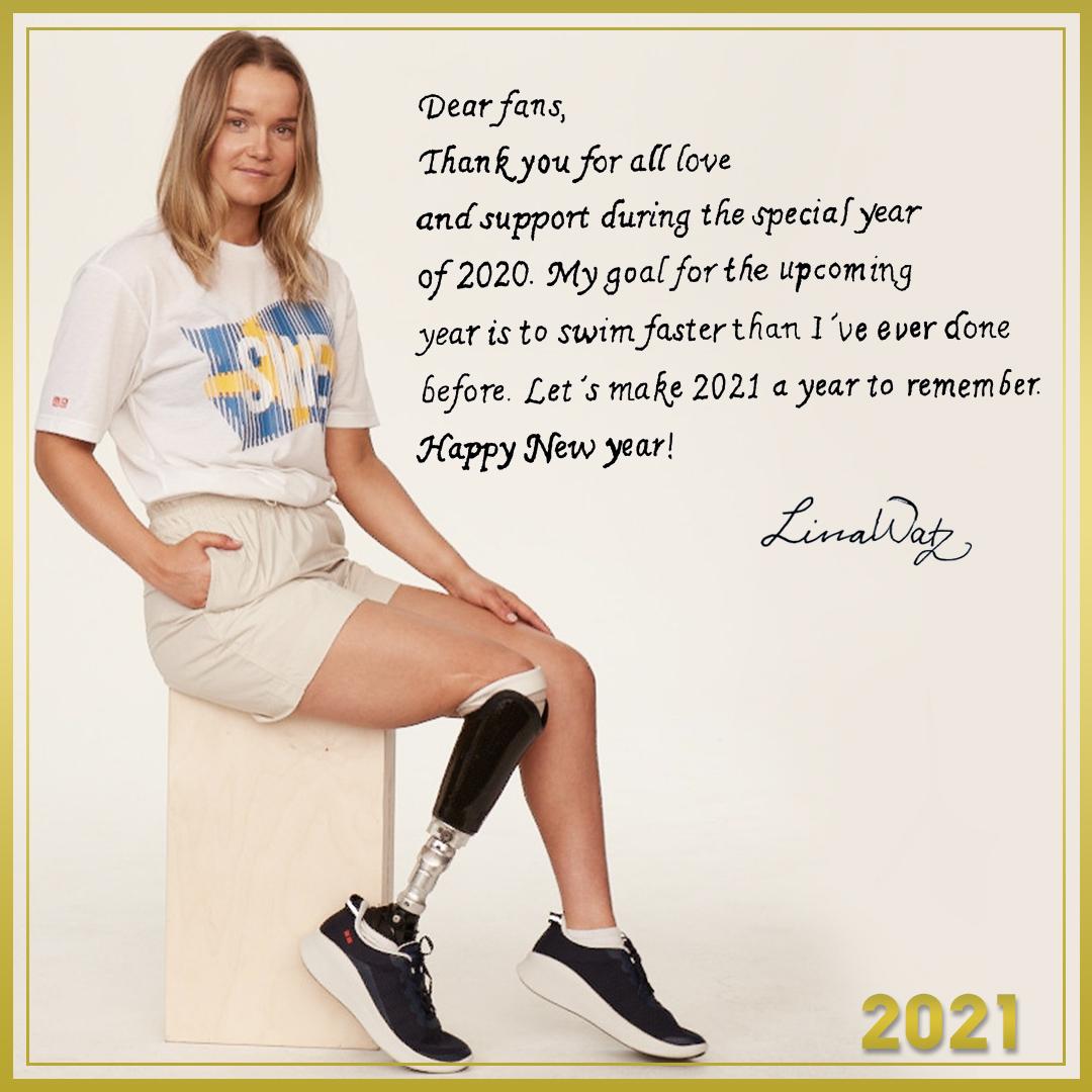 A message from Lina Watz, Para-Swimmer #UNIQLOTEAMSWEDEN #UQAmbassadors #NewYear2021
