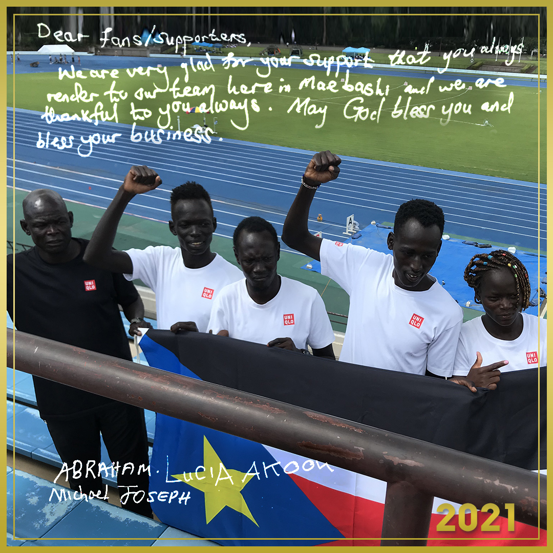 A message from South Sudan Track & Field Team.  #NewYear2021