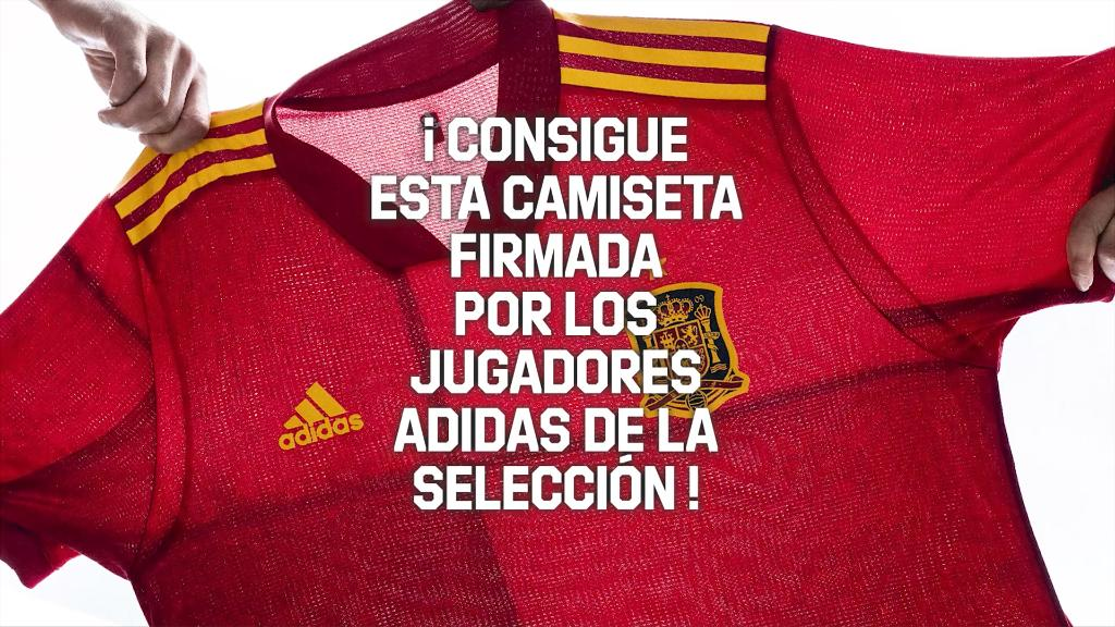 ¿Quieres la camiseta de la @SeFutbol firmada por jugadores adidas? Haz clic y ¡regístrate hasta el 30 de diciembre para conseguirla!