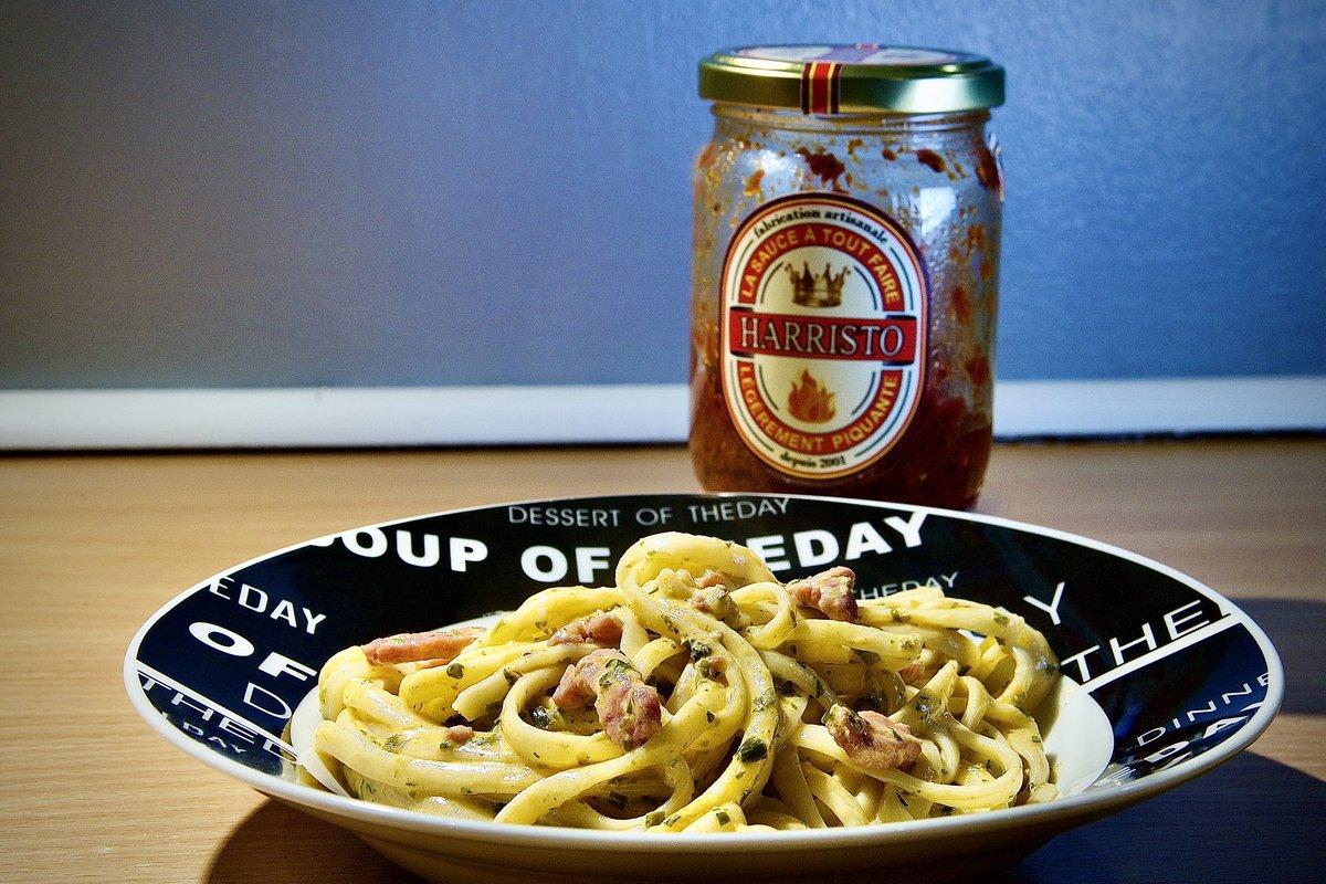 #harristo #harristosauce #sauceharristo @harristo1146 #pates #pâtes #pasta #linguine #linguini #allumettesdelardons #lardons #baconmatches #bacon #cidre #cider #herbes #herbs #echalote #shallot #sel #poivre #salt #peper #cremefraiche #freshcream #canon750d #750d #18135mm