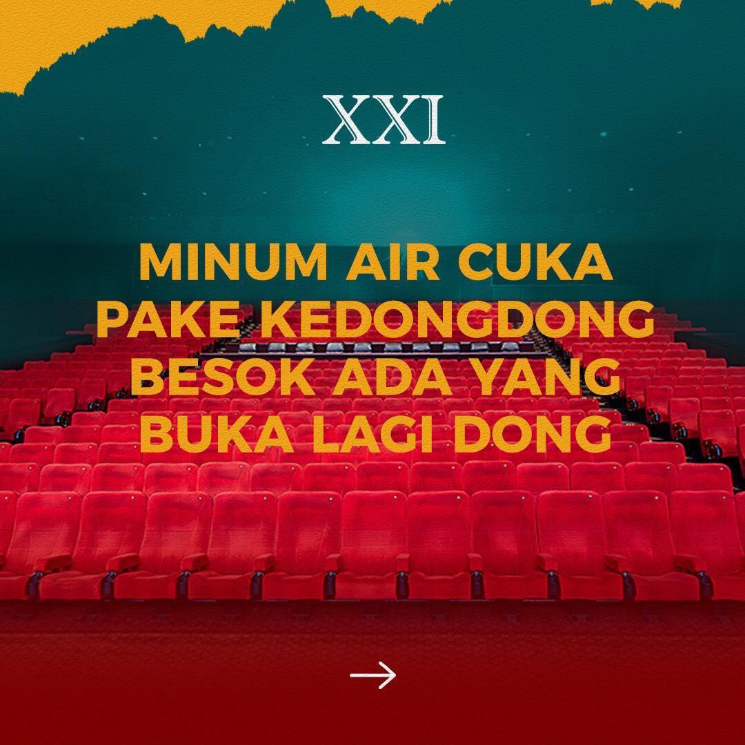 Besok besok besok, mau ada yang buka lagi nih!  Makin banyak pilihan lokasi Cinema XXI buat kamu nonton film-film favorit di akhir tahun ini.  Langsung geser ke slide kedua dan dan ketiga ya buat tau lokasinya dimana aja, buat yang mau menuntaskan #RinduNontondiXXI!