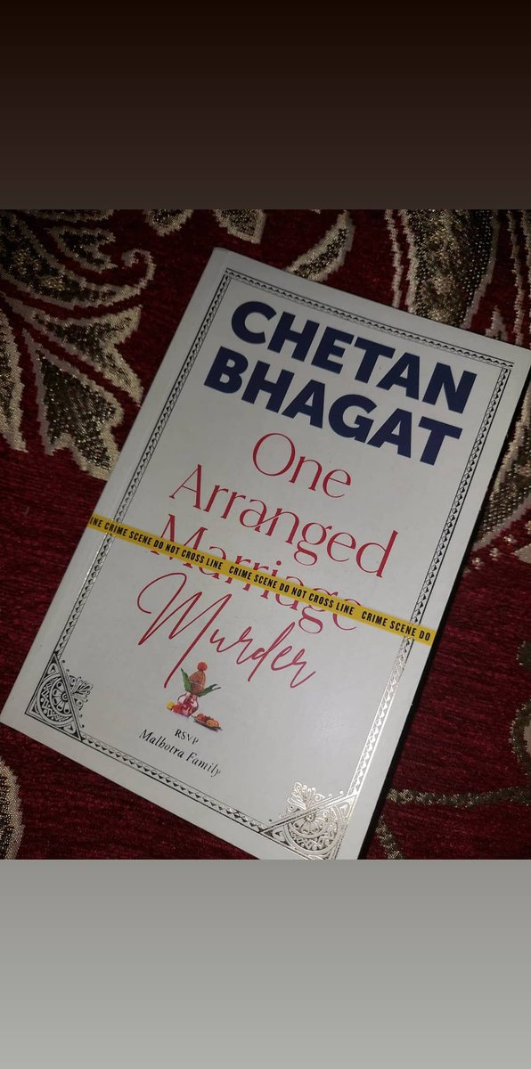 Today finished one arranged Murder, beautifully written by @chetan_bhagat. It's a brilliant story I have ever read. Hatsoff Mr. Chetan Bhagat #chetanbhagat  #onearrangedmurder  #bookstagram #authorsofig
