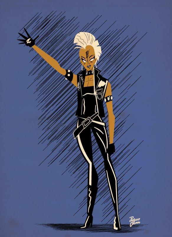 80s punk Storm, La mejor Tormenta es la de Los 80s punk sin poderes dibujada por John Romita Jr #storm #ororomunroe #uncannyxmen #johnromitajr #mohawk #morlocks #chrisclaremont #xmen #mutant