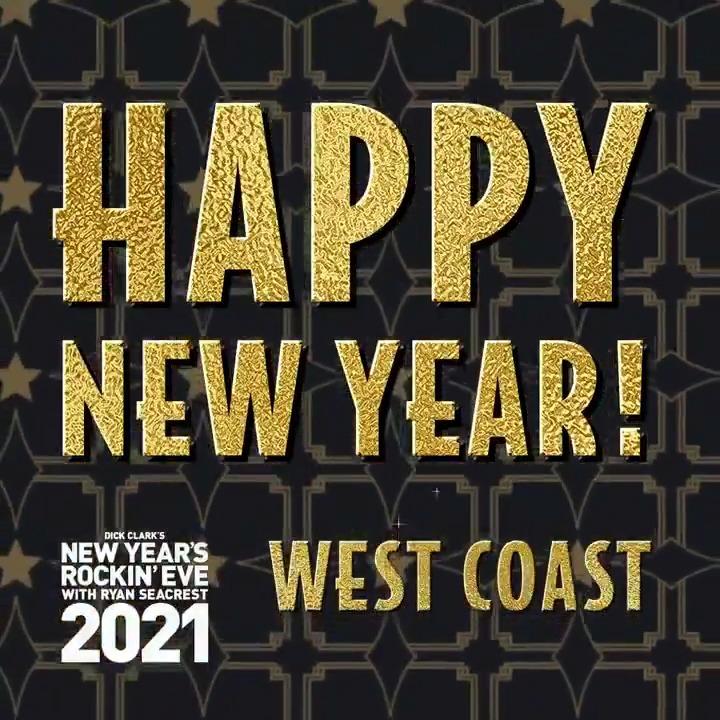 Happy New Year, West Coast! 🍾 #RockinEve