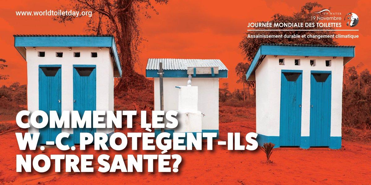 L'assainissement durable résiste au changement climatique et traite les déchets corporels en toute sécurité. Des W.-C.,de l'eau propre et une bonne hygiène:une solide défense contre la #COVID19 et les épidémies à venir #WorldToiletDay @SHFund @WSSCCAdvocacy @ab_benin  @TheSHFund