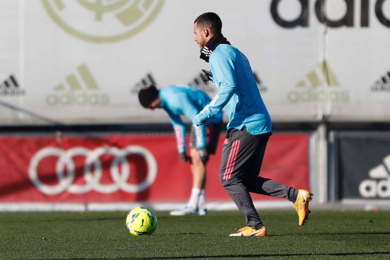هازارد من تدريبات ريال مدريد (المصدر: الموقع الرسمي لريال مدريد)