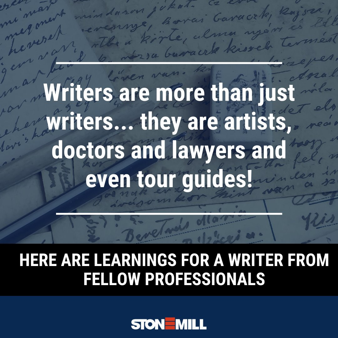 Being a #writer is not just about creativity, you need a few calculated risks and lots of #inspiration!  See this Instagram post by @stonemillindia  to know what a writer can learn from other professions.  #writing #writingcommunity #mondaythoughts