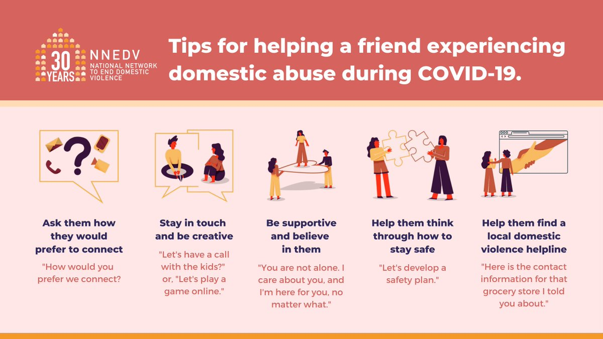 The holidays can often provide opportunities to offer extra support to friends or family members experiencing abuse. Even if you can't be together in-person this year, you can still be there for a loved one in need. Learn more: