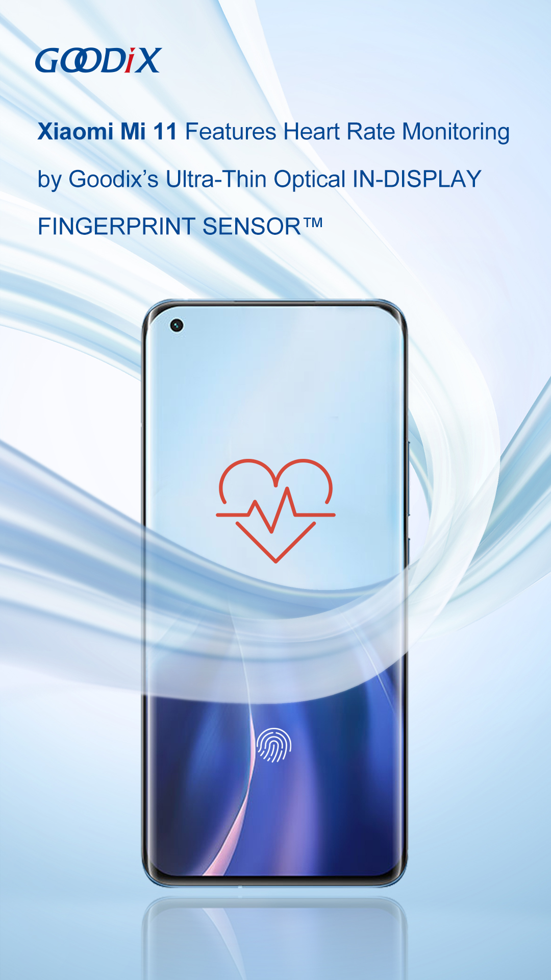 Xiaomi Mi 11 with integrated in-screen heart rate sensor