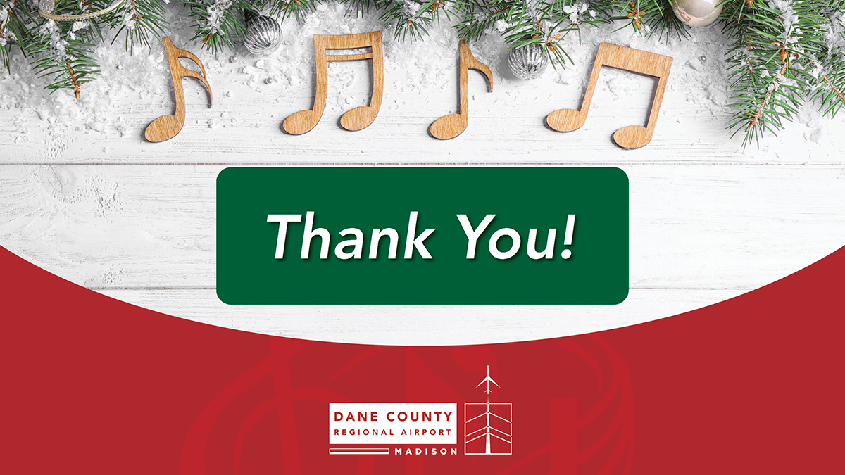 We want to send a very special THANK YOU to all the performers and staff involved in Tunes in [and around] the Terminal. Because of your hard work, we were able to safely continue this beloved holiday tradition.  #TunesinandAroundtheTerminal #Thankyou #Traditions #Holidays