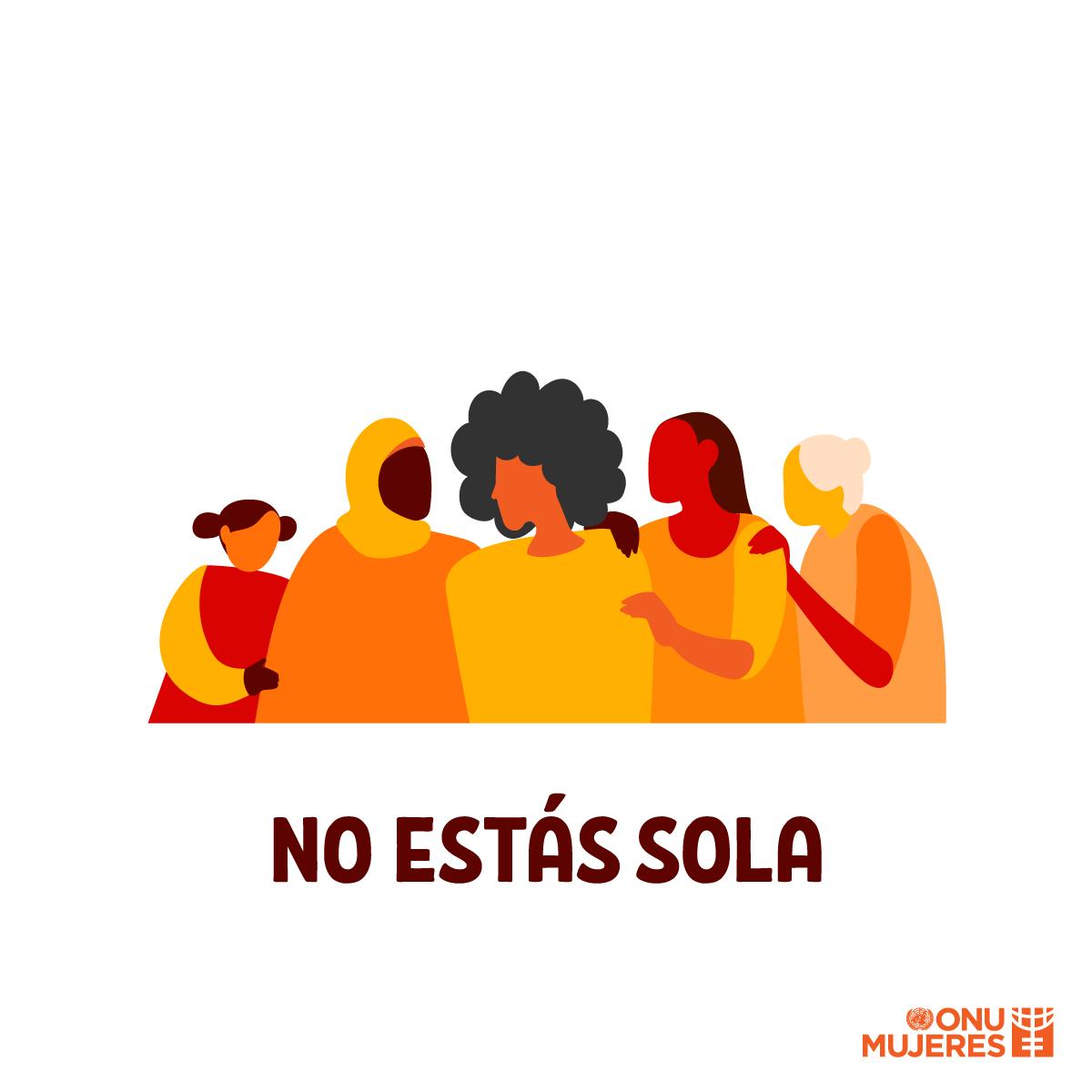 Querida sobreviviente que supera su miedo para hablar:   Te escuchamos. Te vemos. Te creemos.  No estás sola. 🧡  #pintaelmundodenaranja #16Días #GeneraciónIgualdad vía @ONUMujeres