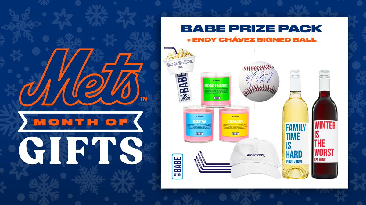 ⚾️🍷 RT TO WIN ⚾️🍷  Retweet this for your chance to win an Endy Chávez signed ball & a @BabeTweets Prize Pack including a hat, snack organizer, large straws, candle and two bottles of wine. Must be 21+. #MetsMonthOfGifts