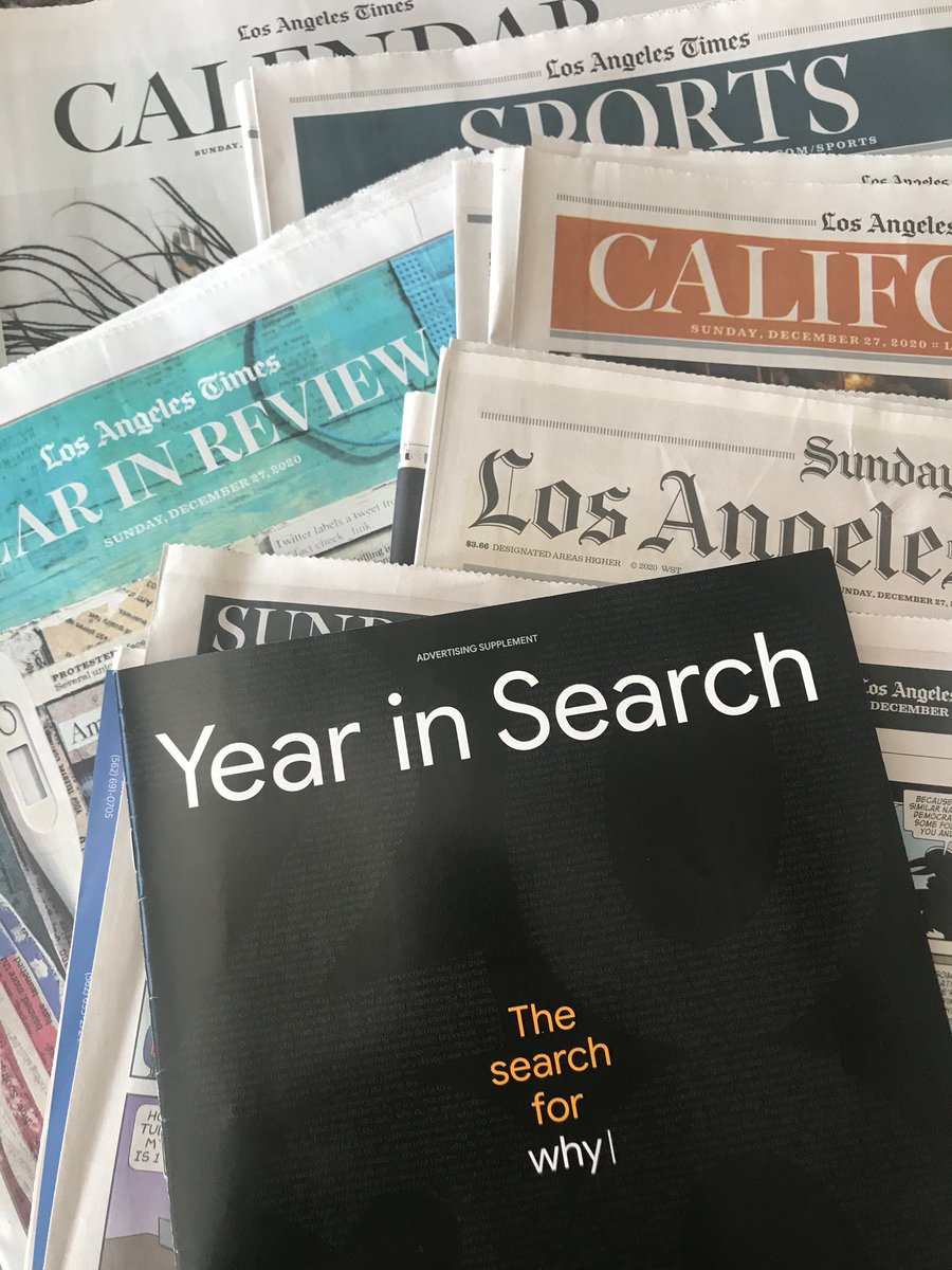 So exciting to see #YearInSearch magazine, a collab between @Google and the brand studio @PopUpMag, show up in Sunday papers around the country yesterday!