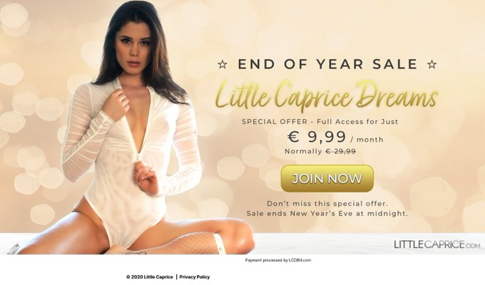 Don't miss it 9,99 per months , end of the year sales @LittleCapriceTM https://t.co/epFzsaCiwY https://t