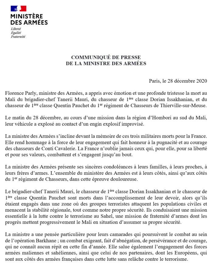 Trois soldats français tués en opération au Mali EqWOcwqXIAE4kGP?format=jpg&name=900x900