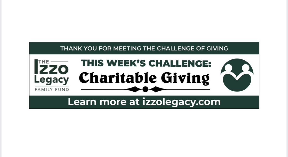 Charitable giving starts at home. I know that for my brother and I my parents were the ones that influenced us to giving to others and there parents influenced them. Give to those who are in need, especially this time of year💚 #charitablegiving #4thquarterchallenge #izzolegacy
