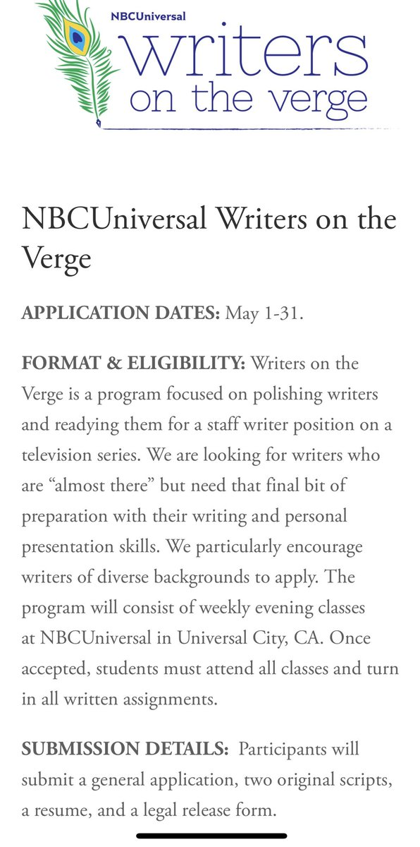 TV Writing Fellowships (Deadlines & Submission Information) —