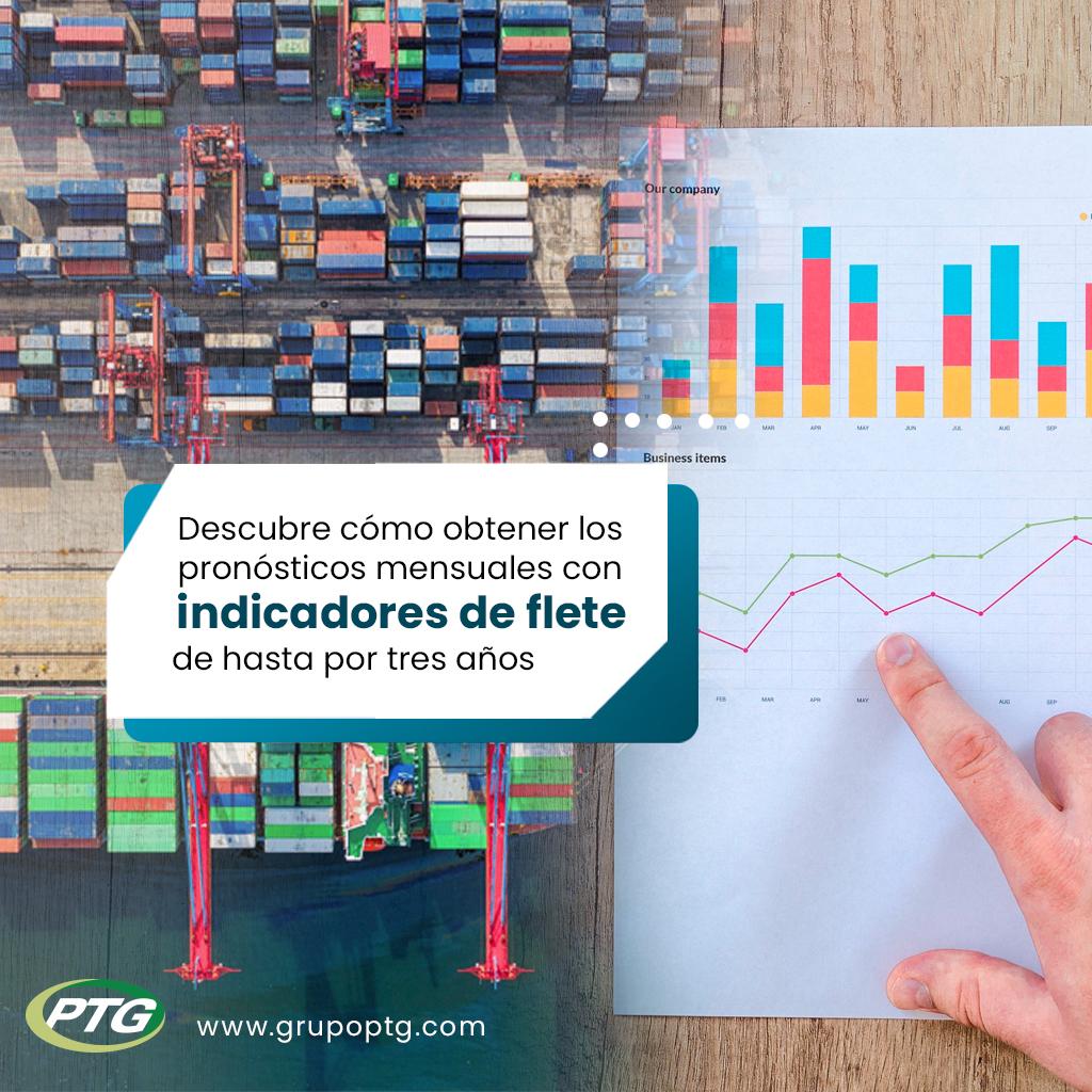Nuestra #plataforma utiliza más de 3.000 datos correlativos, basado en un modelo analítico único.  Freight Rate Forecast (#FRF) te provee de #pronósticos mensuales con indicadores de #flete de hasta por tres años.  #Shipping #Rastreo #Maritime #Marítimo #GrupoPTG #Latinoamérica https://t.co/xF46HQFUkJ