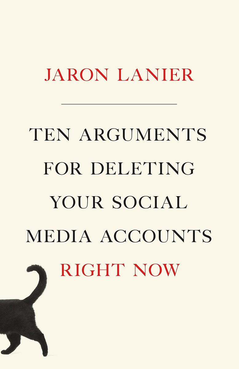 I'm reading this text on cyber philosophy ... I recommend it #jaronlanier #books #Socialnetworks #CyberSecurity