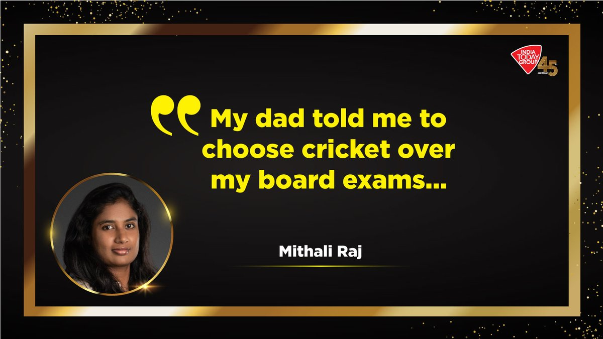Click  to know how @M_Raj03's father's confidence, her hard-work and dedication made her one of the finest women players to play cricket. Latest India Today issue explores such achievers who will inspire you. #IndiaTodayGroupAt45 #MagazinePromo
