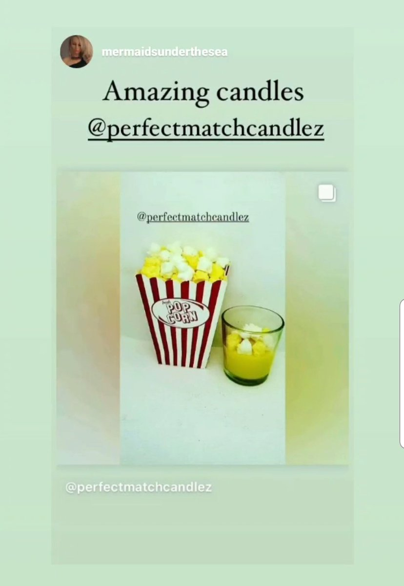 Instagram Love 🤗😍  #Follow me 🥂💫 #candles #Candle #candleday #candlesgiveaway #ebay #instagram #etsy #shoplocal #supportsmallbusiness #new #popcorn #popcorncandles #artshare #gainszn #rt #homedecor  #reviews #newproduct #nyc #brooklyn #ebayseller