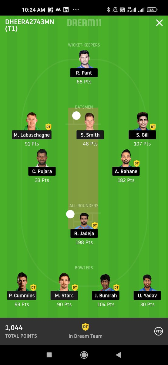 @_cricketsparsh 1044 with Smith as C😂