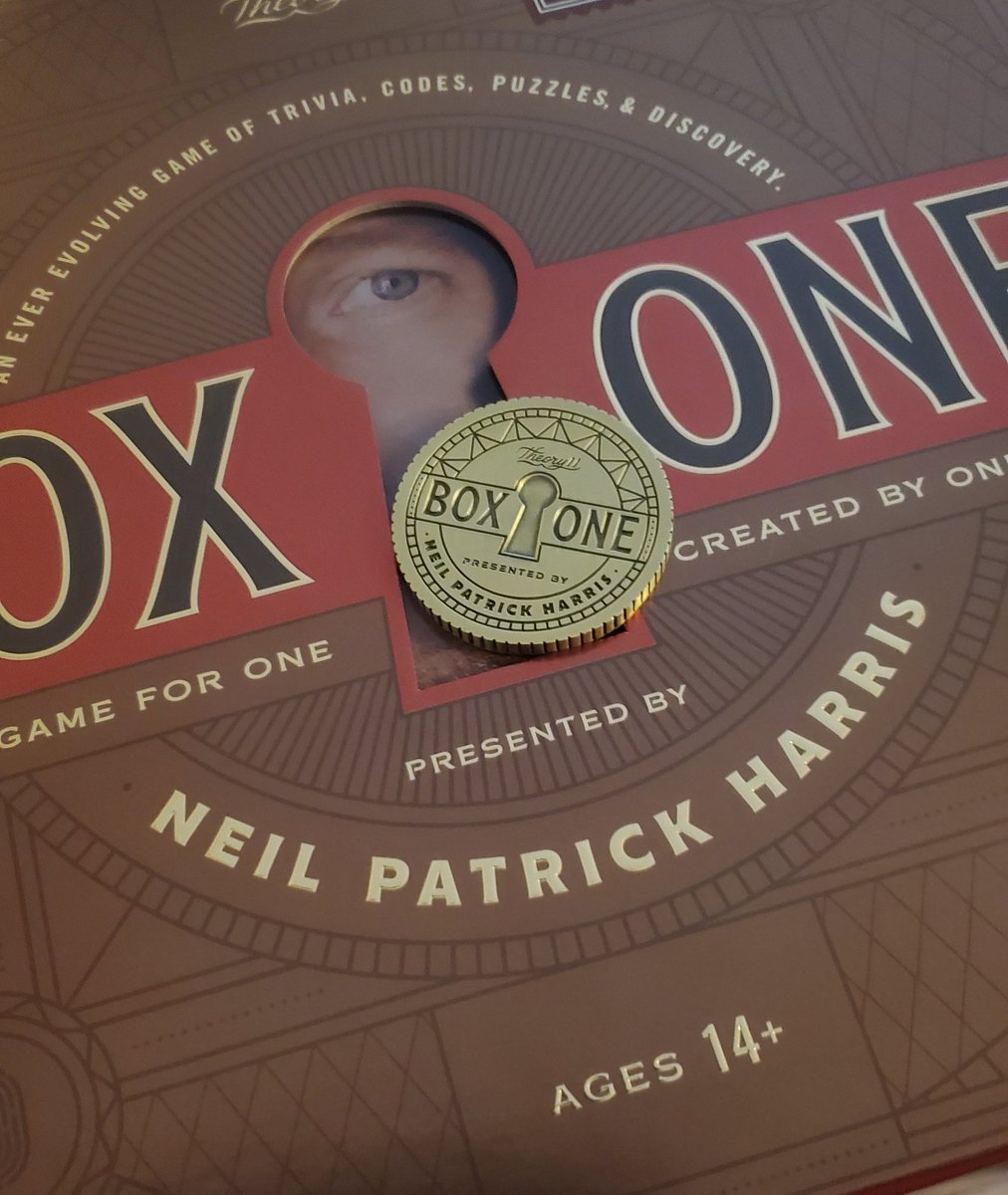 This was WAY more fun than I expected! So many surprises.  #boxone @ActuallyNPH @theory11  Hoping for a #boxtwo.