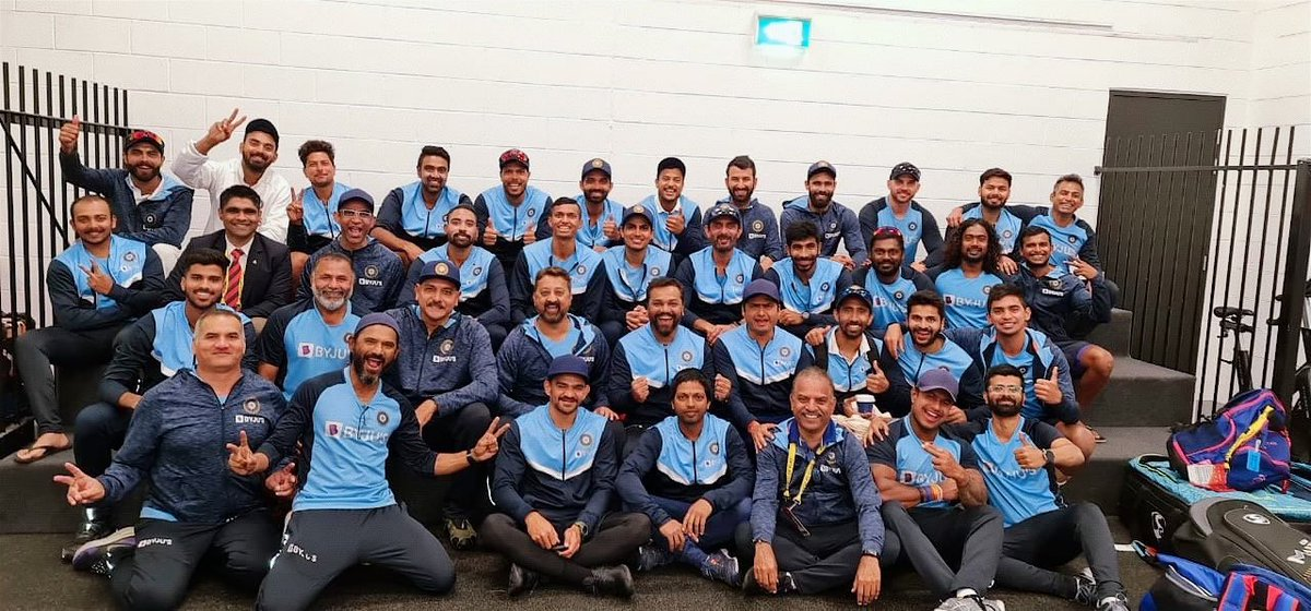 Not just a team but a family. Got each other's backs. Supporting one another always. 🇮🇳🙌🏻💯 #specialwin