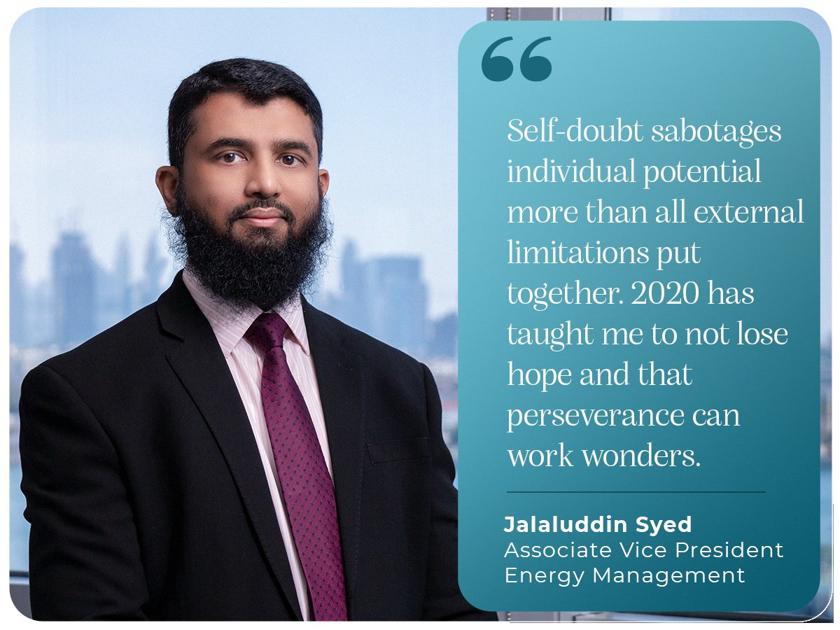 Our Associate Vice President - Energy Management, Jalaluddin Syed, stresses on hope and perseverance being the backbone to his success throughout 2020. #2020growth #newyear #countdownbegins #iamscientechnic #hope #perseverance https://t.co/klrFhIvmCn