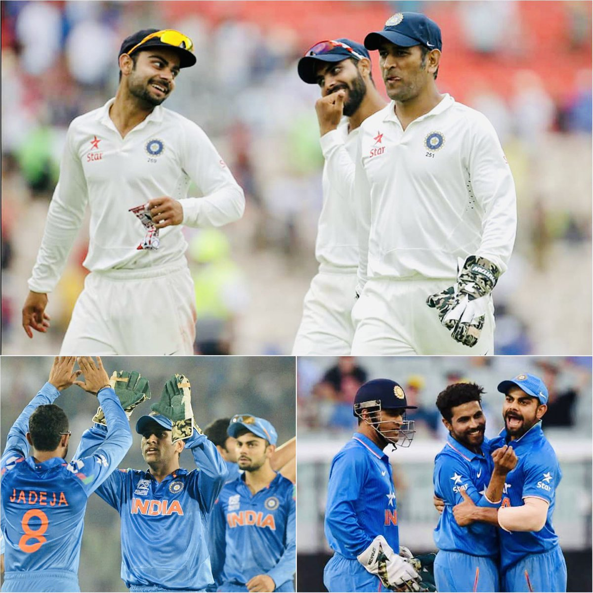 It's a great honour to join Mahi Bhai and Virat as the only others to have played 50 games across all 3 formats for 🇮🇳  A big thank you to the BCCI, my team mates, the brilliant support staff for showing faith in me and for always backing me.Onwards and upwards. Jai Hind 🙏