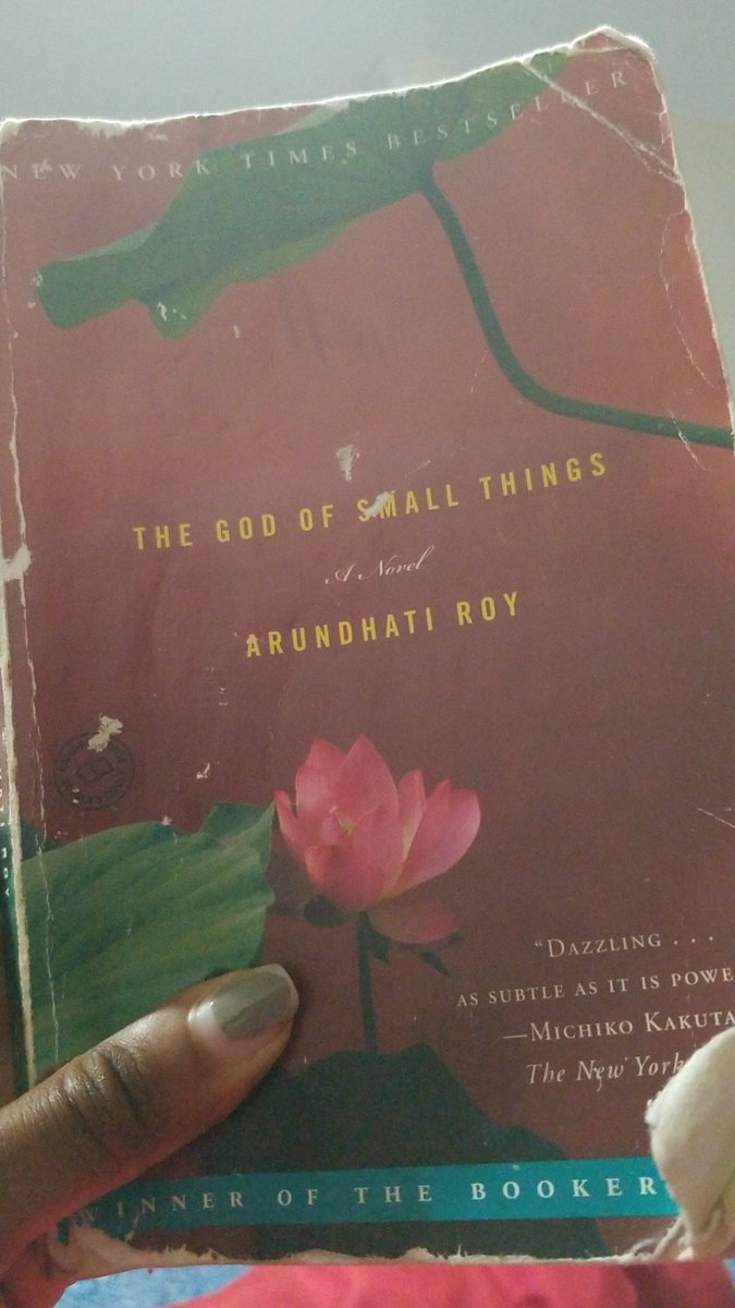 Finished my first book since early 2017 ❤❤❤ I've been dragging this book around a minute. Now it's done @  3:12am. Good Night!  #books #newbeginnings #godofsmallthings #goodreads #accomplished #NewYear #NewYearNewMe