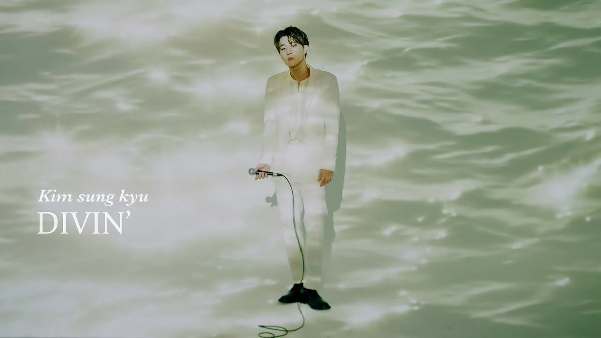 "allkpop on Twitter: ""INFINITE's Sunggyu swims in blue in 'Divin' live MV  https://t.co/bpZfc1rrVo… """