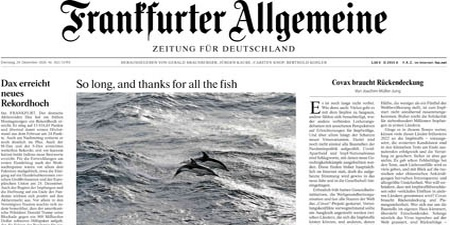 """Headline: """"So long, and thanks for all the fish"""""""