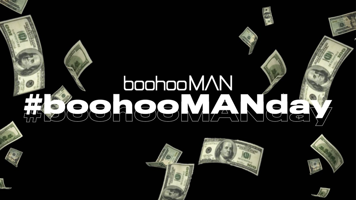 ⏰ FINAL HOUR!! ⏰  🤑💰 17:00 GIVEAWAY 🤑💰  We're giving away a $100 boohooMAN voucher every 30 MINS until 6pm GMT.  ⏰ Set your alarms.  WANT TO #WIN ? TO ENTER:  🤑 Retweet This Tweet 🤑 Reply with #boohooMANday  Let the games begin! 👇
