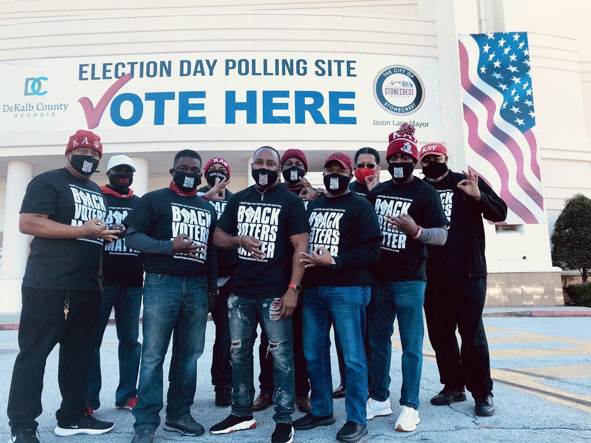 Decatur Nupes working at the polls! #LetsDoItAgain #BlackVotersMatter ✊🏾