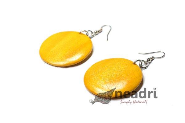 Yellow Colored Wood Earrings #woodearrings #polishedwoodenearrings #woodjewelry #woodenearrings https://t.co/rn4hPk5cjj https://t.co/4Pi0890h79