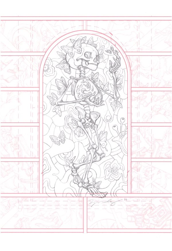 This @JamesJeanArt PORTAL INTERIOR original art is being auctioned with all proceeds to benefit cancer patients and their families via . Please place your bids here OR write me. Auction ends Thurs 1/7 at 5PM PST/8PM EST. Thanks!