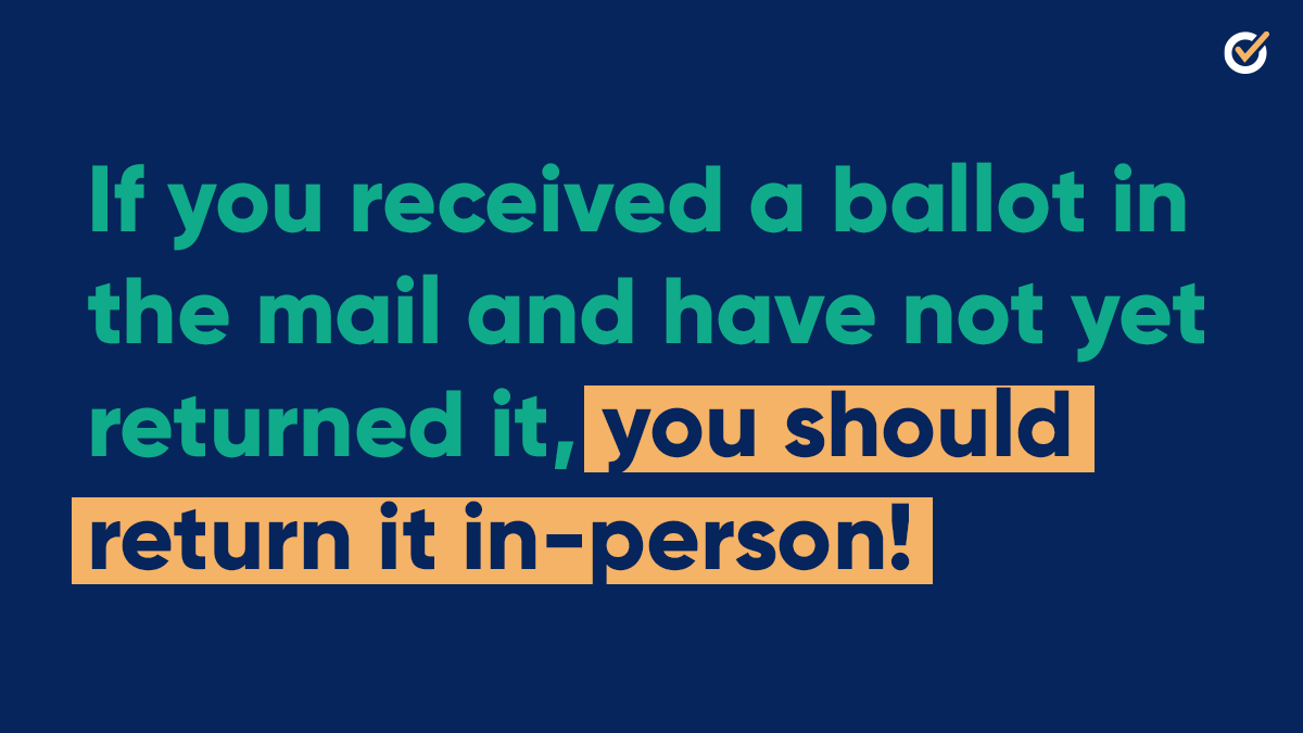 🚨 IF YOU STILL HAVE YOUR BALLOT, YOU NEED TO RETURN IT TO YOUR NEAREST DROPOFF LOCATION BEFORE 7 PM TONIGHT 🚨  Find your drop-off location ASAP: