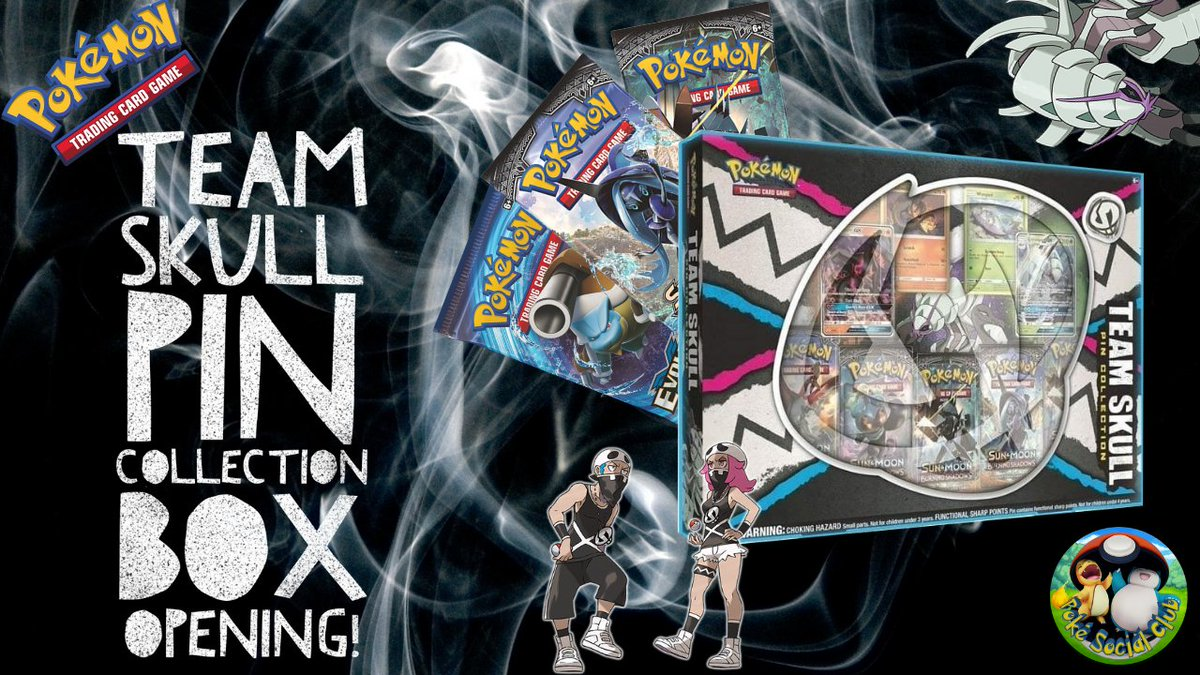 New Year, New Box Opening live on our channel! This time it's Team Skull with their own pin collection box! Check out if it's any good right now!  #pokemon #PokemonTCG #PokemonSwordShield #teamskull #pokemongo #ptcgo #guzma #plumeria #Pokemon