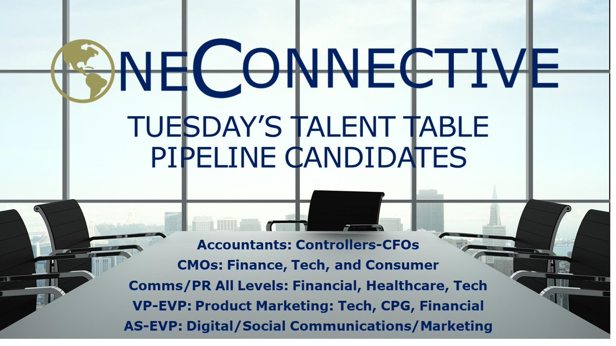 Always Be Connecting with Top Talent. it's #timetoconnect with OneConnective   #executivesearch #integratedmarketing #prjobs #communications #marketingjobs #publicrelations #finance #healthcare #publicaffairs #tuesdaystable #humancapital