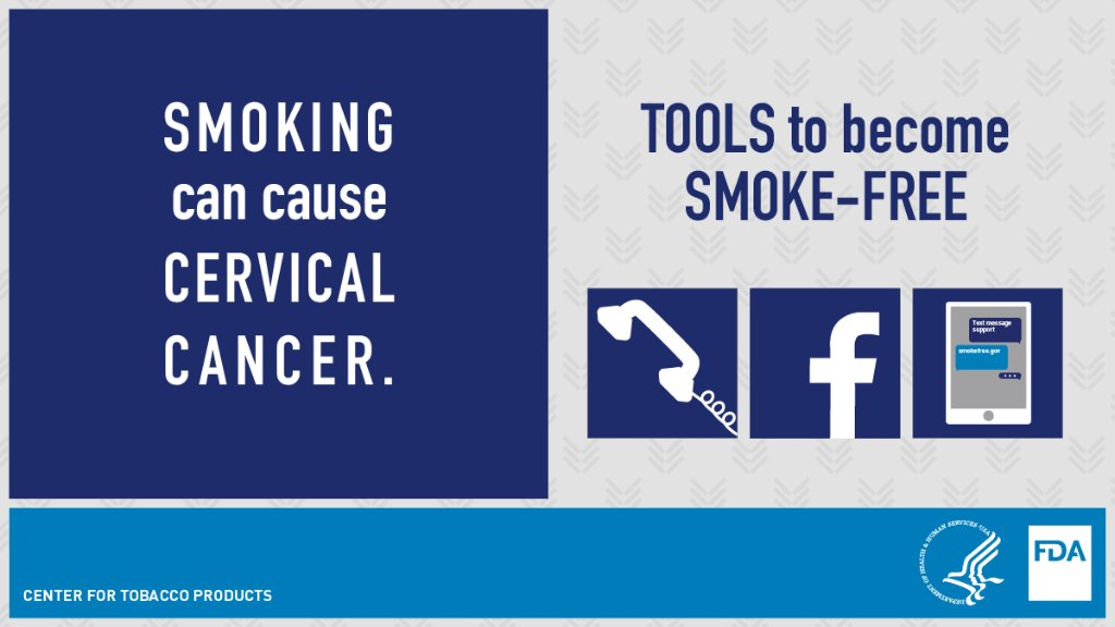 January is #CervicalHealthMonth, a chance to raise awareness about how women can protect themselves from cervical cancer.   Smoking can cause cervical cancer.   Learn about different tools and tips to help women quit smoking at