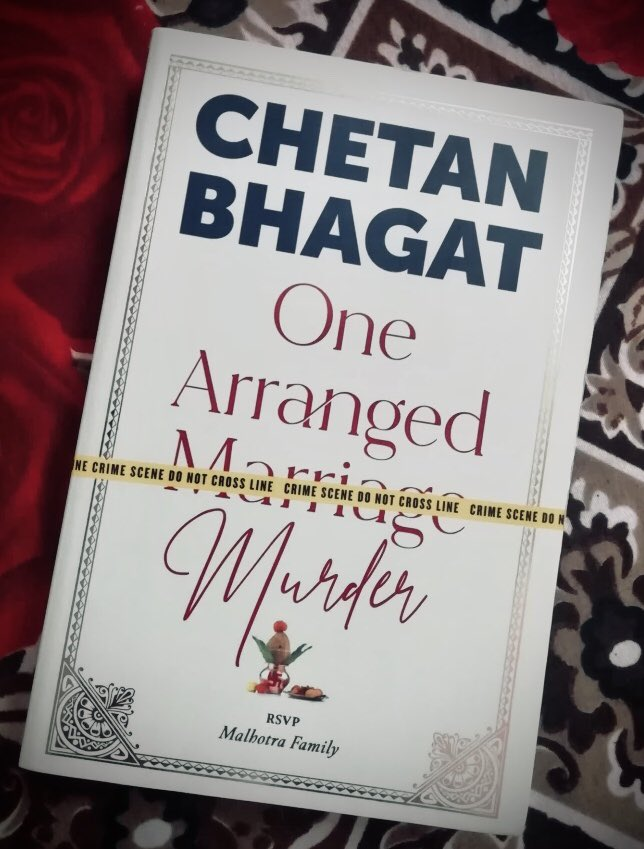 Great work by @chetan_bhagat. Instead of wasting time in watching a movie I just picked up this great piece of work.  If you're feeling bored, just grab this book and start investigating about  #OneArrangedMurder