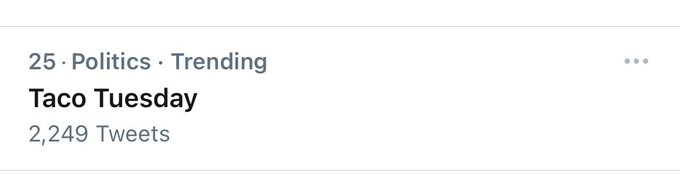 Dear @Twitter please fix this. Taco Tuesday is NOT political. Everyone loves tacos and today is Tuesday