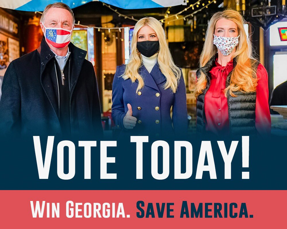 Georgia: you have FIVE more hours to get to the polls.  GO VOTE! #GASen #gapol https://t.co/1kYBEgyzCK
