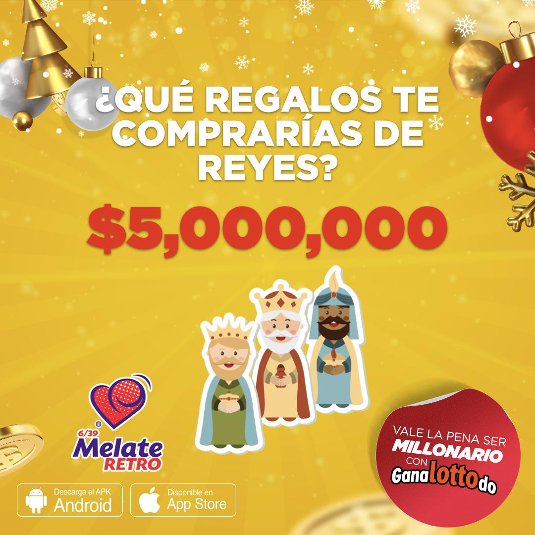 ¿Cuál es el regalo que siempre le pedís a #losreyes y nunca te lo trajeron? 🎁🎁 Compra los regalos que quieras con los $5️⃣,0️⃣0️⃣0️⃣,0️⃣0️⃣0️⃣ de Melate Retro 💛💛 https://t.co/ji5ZfNeLYP https://t.co/1RHrn1uhFo