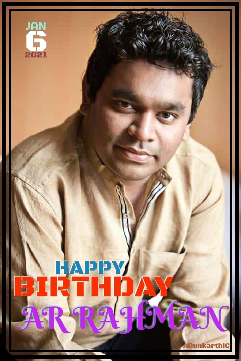 Many more happy returns of the day sir @arrahman 🎂💐🎊🎉🅰️®️®️🙏  #HappyBirthdayARRahman #HBDARRahman