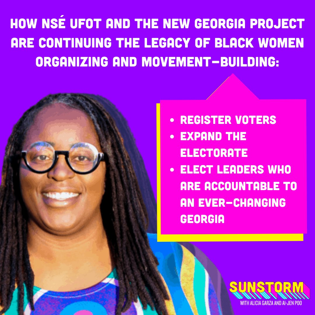 💪🏿 💪🏾 💪🏽 Civic participation is power.   In our bonus episode of Sunstorm, hear more from @nseufot about how @NewGAProject is empowering communities in Georgia.