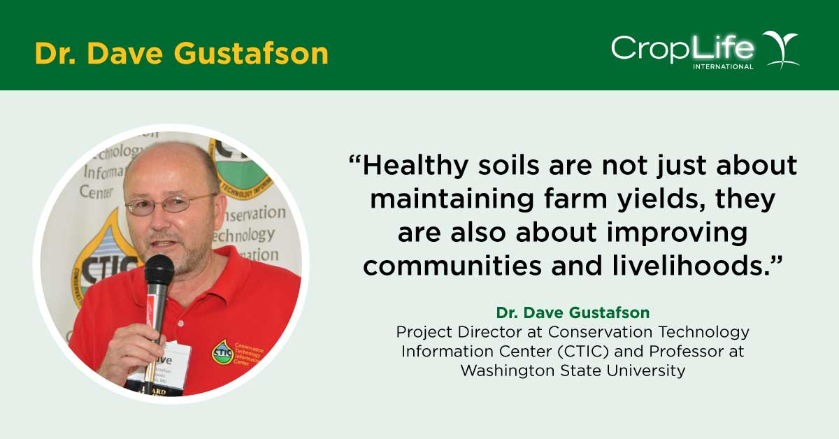 For 🌐 #WorldSoilDay, we talked to Dr. Dave Gustafson with @ctic_tweet about the importance of 🌱  soil health to promoting food security, mitigating climate change, and reducing water runoff. Read our interview with him and other soil experts here: 👉